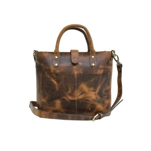 Zakara Leather Tote Bag
