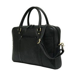 Black Genuine Leather Laptop Bag