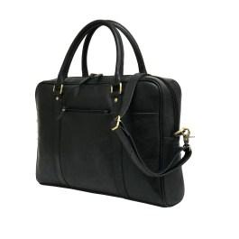 Black Genuine Leather Laptop Bag