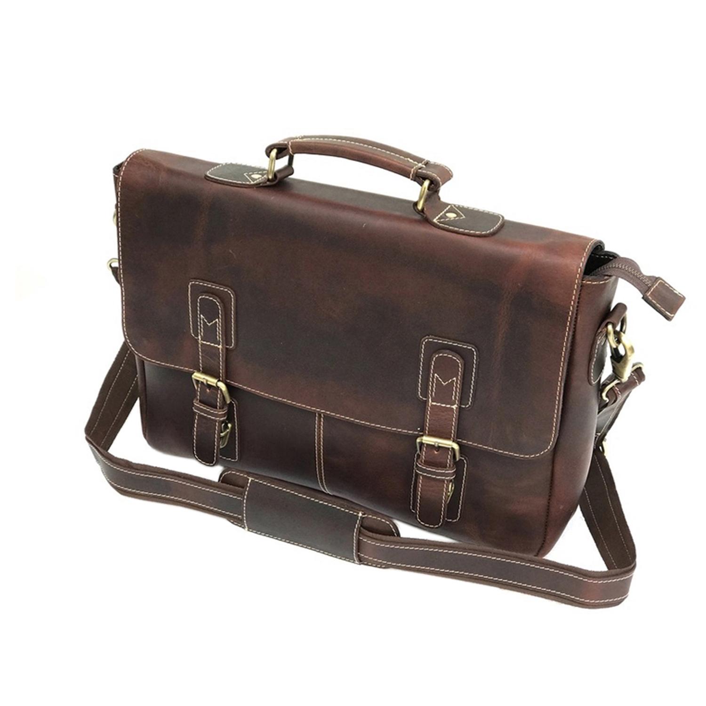 Zakara Leather Briefcase Bag
