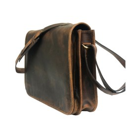 Genuine Brown Hard Wax Messenger Bag