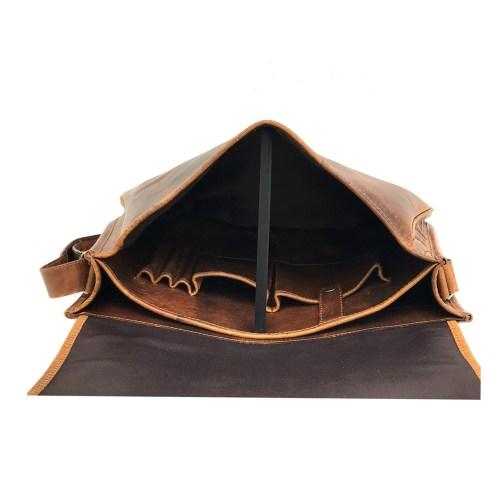 Zakara Leather Cross Body Messenger Bag
