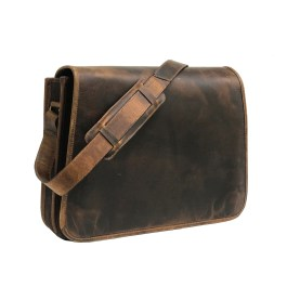 Zakara Hunter Brown Messenger Bag