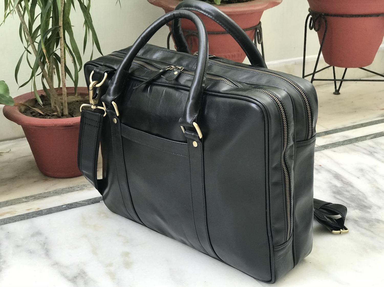 Zakara Leather Laptop Bag