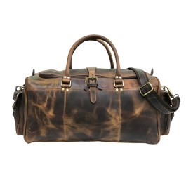 Zakara Leather Weekender Bag