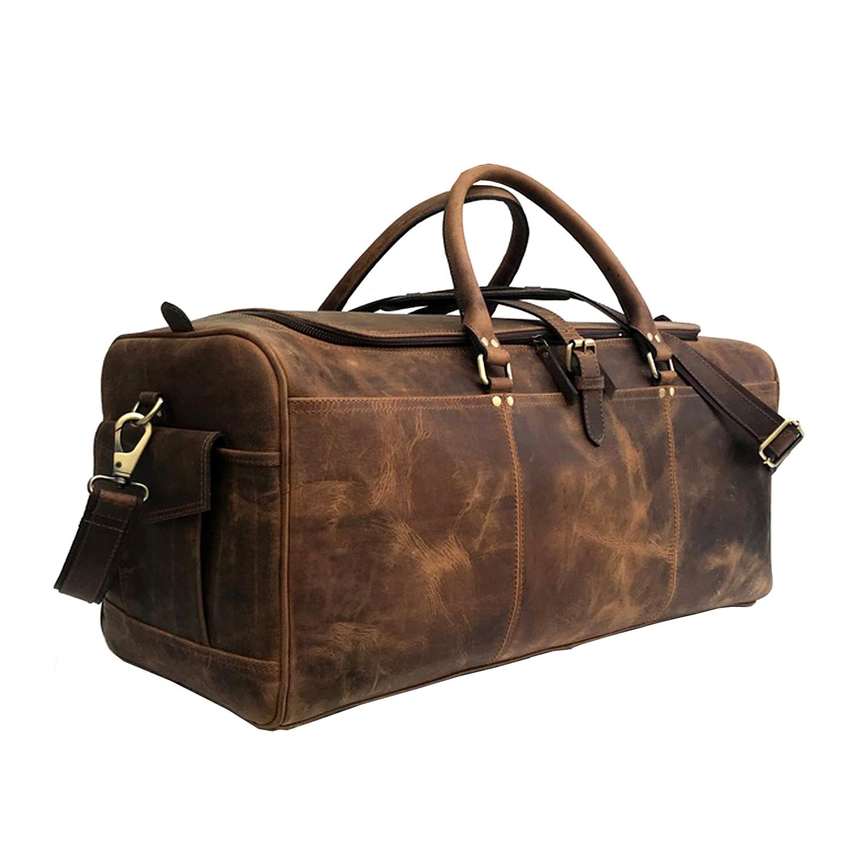 Zakara Leather Weekender Bag