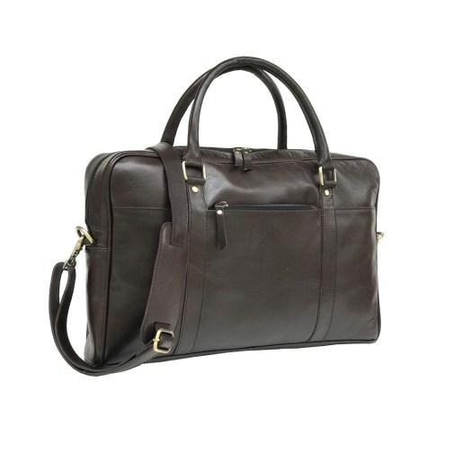 Zakara Leather Laptop Briefcase Bag