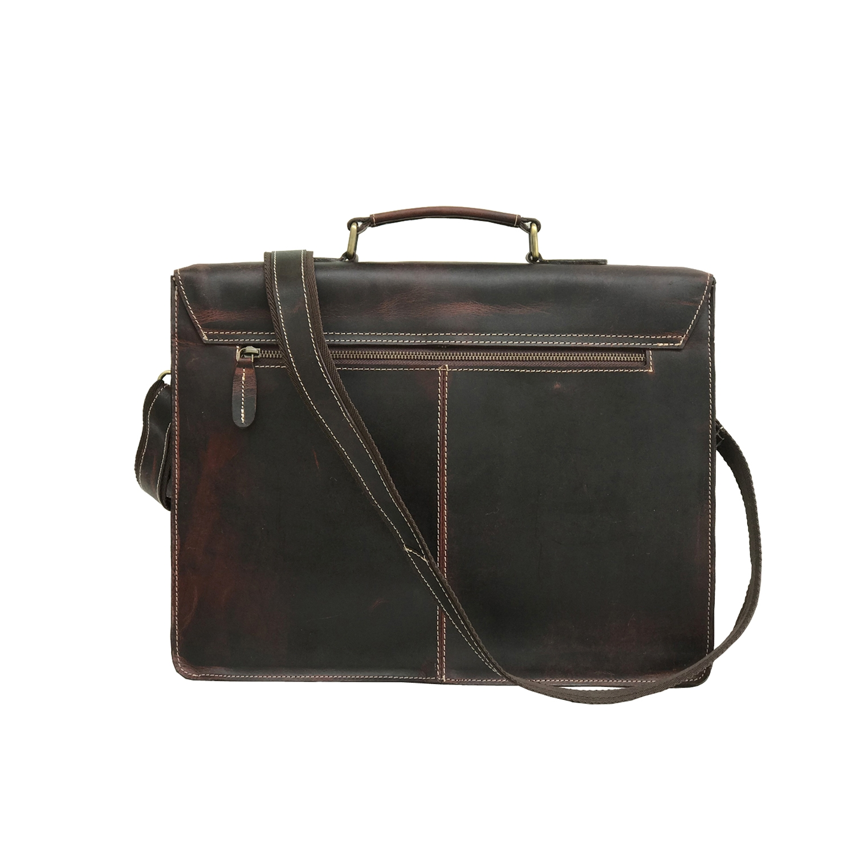 Zakara Leather Laptop Portfolio Bag