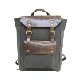 High Quality Canvas Leather Unisex Backpack