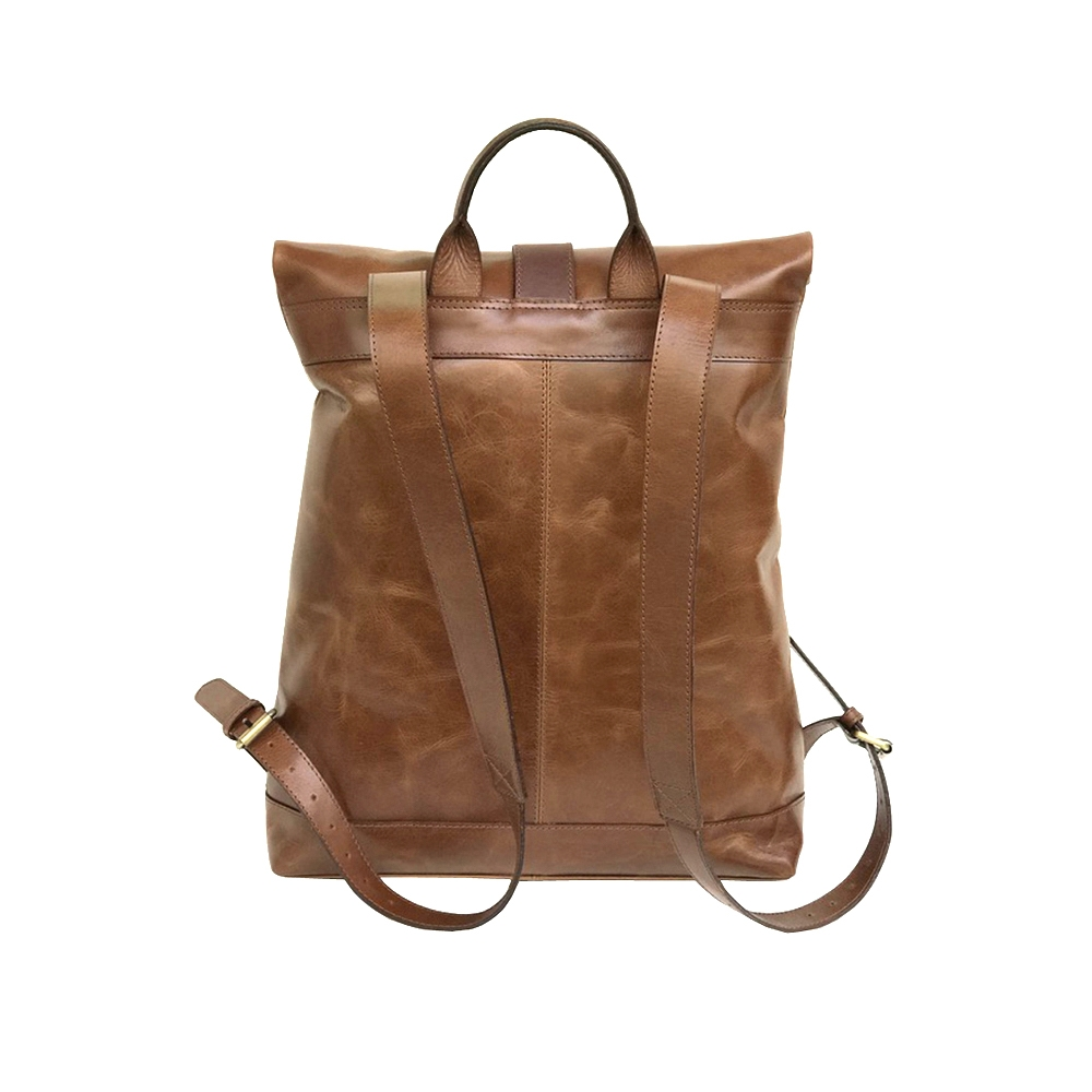 Zakara Leather Roll Top Backpack
