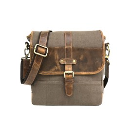 Genuine Green Waxed Canvas Messenger Bag