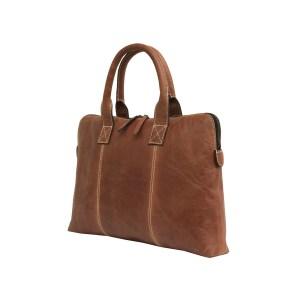 Brown Genuine Leather Laptop Sleeve