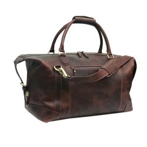 Genuine Buffalo Leather Gym Travel Duffle Bag