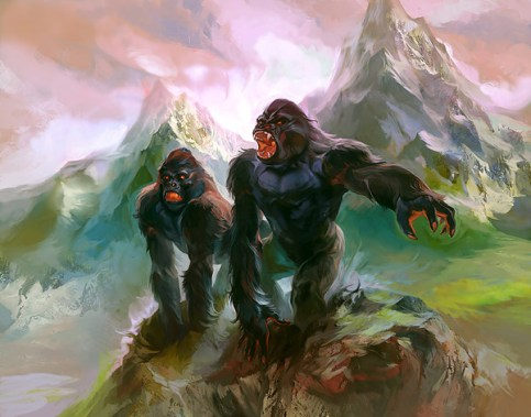 magic illustration Worldwake Summit Apes