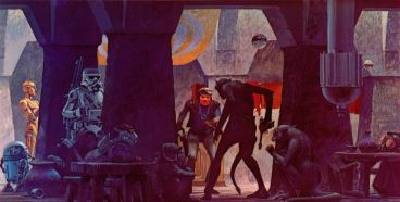 star wars concept-ralph mcquarrie-cantina