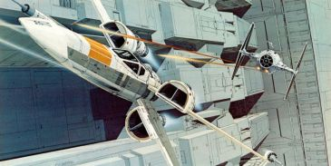 star wars concept-ralph mcquarrie-xwing tie