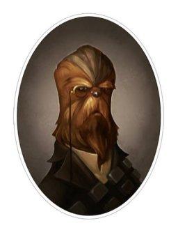 chewbacca steampunk victorien portrait