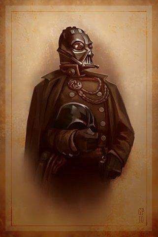 dark vador steampunk victorien portrait