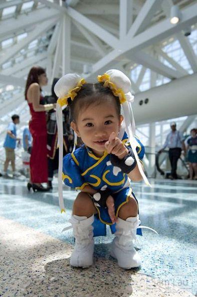 mini chun li cosplay