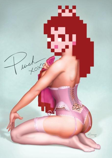 sexy princess-peach-a-pin-up