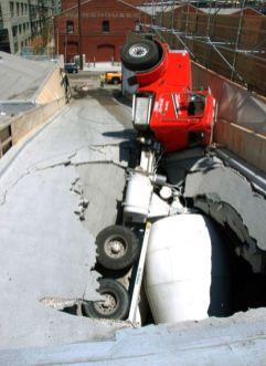 camion trou fail