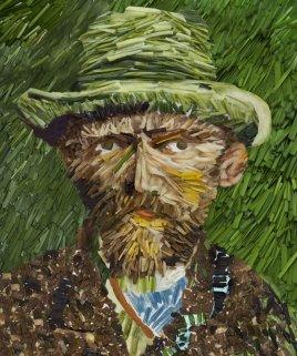 Vincent Willem van Gogh. Self Portrait With Straw Hat V