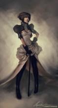 dessin fille steampunk