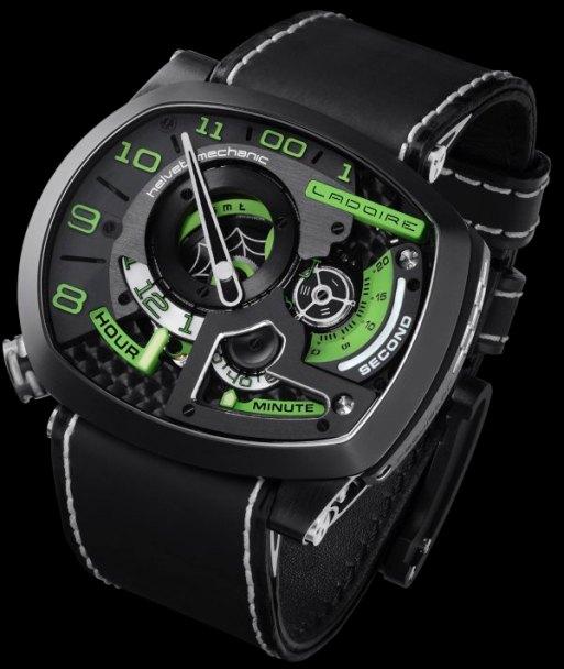 Horloge Montre Steampunk Ladoire_BlackWidow_MrGreen_Dial_