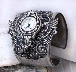 Horloge Montre Steampunk Steampunk_Watch_Silver_Black_by_Aranwen