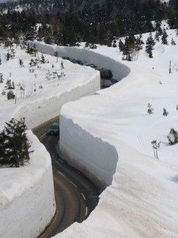 mur neige
