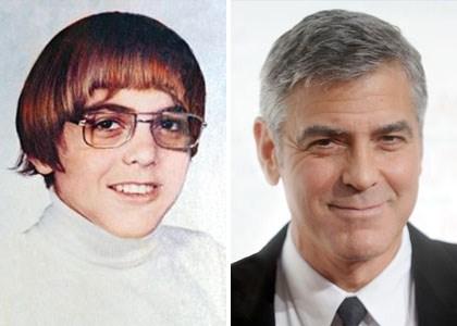 photos de stars jeune ecole George Clooney