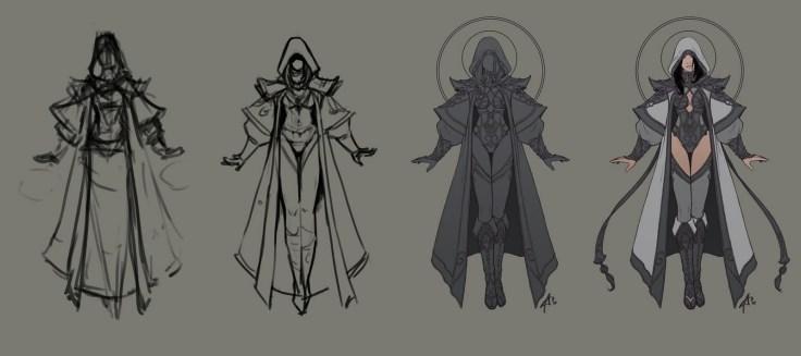 priest dessin evolution