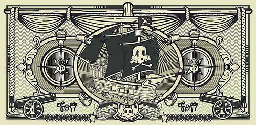 billet banque pirate