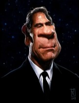 caricature - tommy lee jones