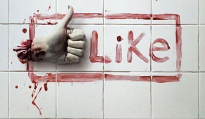 pouce like facebook zombie mort