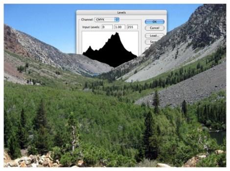 photoshop niveau montagne