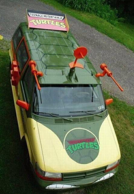 tortue ninja van