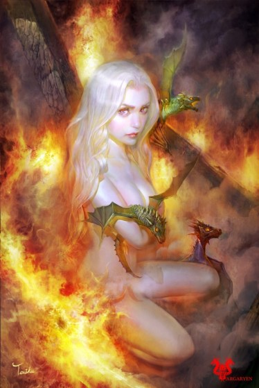 Daenerys Targareyen ,Game Of Thrones A Song Of Ice and Fire by TeiIku
