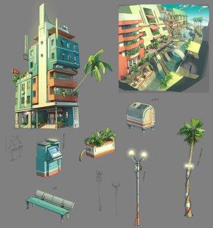 EoSBuildingDesign03 by Gray_Shuko - CGHUB concept dessin ville