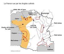 carte de france vu par les anglais