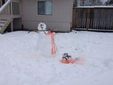 meurtre bonhomme de neige