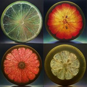 tranche citrons agrumes retro eclaire
