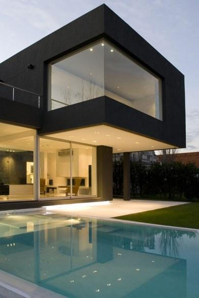 black-house-villa piscine