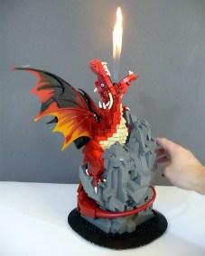 dragon lego flamme