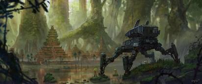 robot temple planete jungle