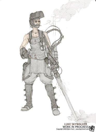 steampunk star wars concept luke
