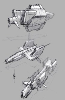 111-vaisseaux design concept dessin