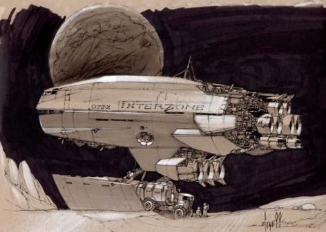 134-vaisseaux design concept dessin
