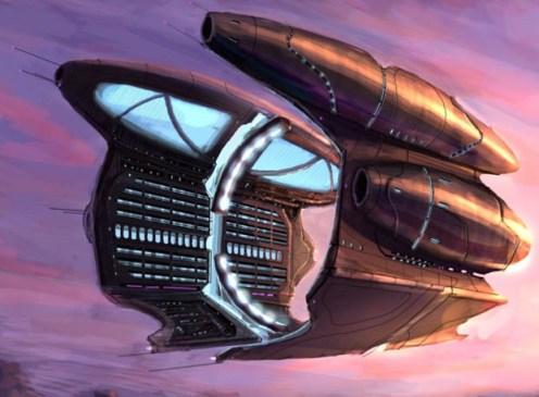 178-vaisseaux design concept dessin