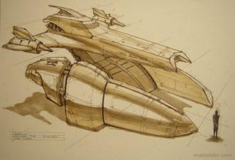 183-vaisseaux design concept dessin
